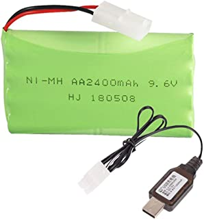 Rechargeable Ni-Mh Battery AA X 8 (4+4) 2400mAh 9.6V KET-2P / L6.2-2P Plug for RC Toy Household Electric Appliances Lighting Equipment with Charging USB Cable