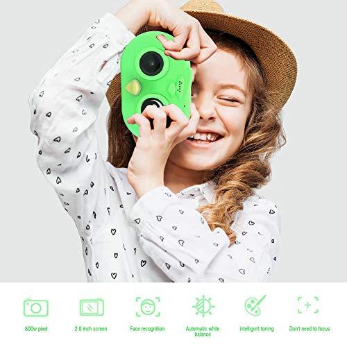 Kinderen digitale videocamera, 2 inch scherm WIFI cartoon mini kinderen speelgoed camcorder met digitale fotolijst voor vrienden meisjes jongens cadeau (groen)