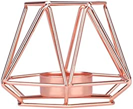YYFZ Wrought Iron Geometric Candle Holder Home Decoration Metal Crafts Candles for Home (Color : D)
