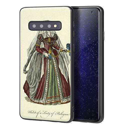 Berkin Arts Thomas Jefferys Custodia per Samsung Galaxy S10/Custodia per Cellulare Art/Stampa giclée UV sulla Cover del Telefono(Habit of A Dama Or Bologna Bolonge)