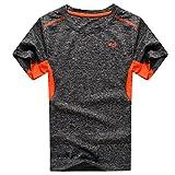 Echinodon Jungen Shirt Sport Schnelltrockend Outdoor T-Shirt Trainingsshirt Jogging Kurzarmshirt -