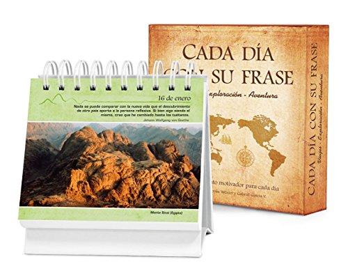 Cada Dia Con Su Frase Viajes Exploracion Aventura: Un Diario Quotebook En Practico Formato de Escritorio: Un Diario Quotebook En Práctico Formato de Escritorio