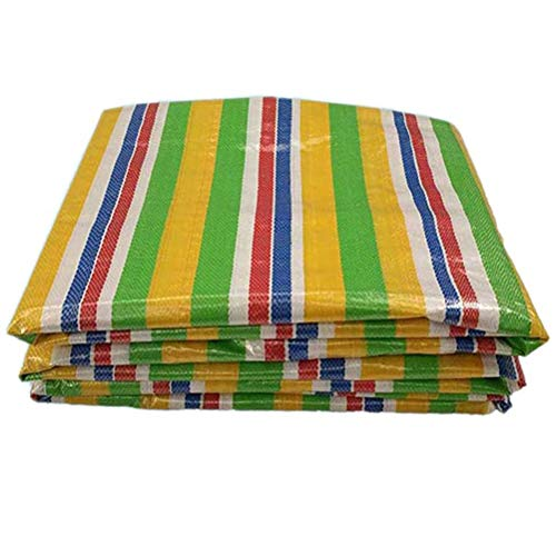 FZWAI Universal Tarp Sheet scheurvrij beschermingszeil zware dekzeilen Waterproof Furniture Caravan voorblad Multipurpose (Color : Multi-colored, Size : 3 * 4M)