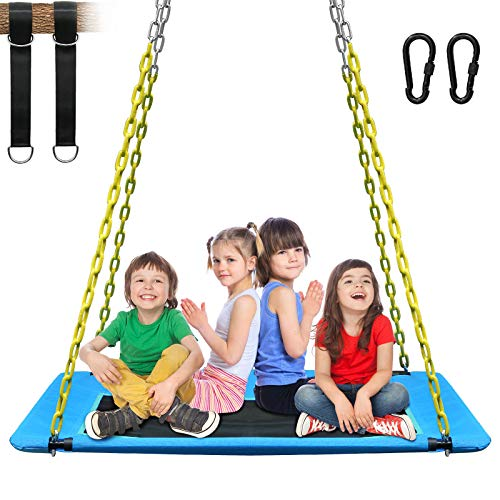 KKTour 1000lbs Giant 6o Inch Platform Tree Swing for Kids and Adults Textilene Wear- Resistant Seat...