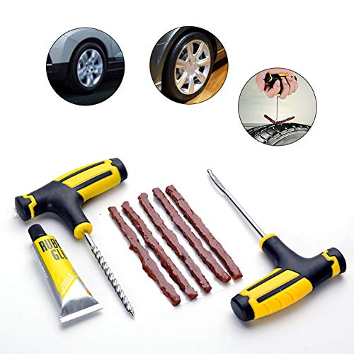 yiyao 1 Juego de Herramientas de reparación de neumáticos de Rueda Kit de reparación de...