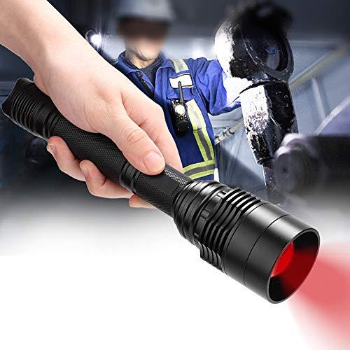 Linterna LED de aleación de Aluminio de aplicación Amplia de Alto Brillo, Resistente y Duradera, Senderismo para Viajes, Pesca, Acampada(Red Light)