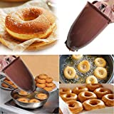 Molde de buñuelo Donut Donut Feliz Donuts - Encofrado de donas - Mini Donut Makers para deliciosos donas - Postre casero,Marrón
