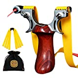 Svyaxfa Slingshot Professional Slingshots Set for Adult Hunting Powerful Stainless Steel Wooden...