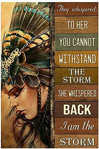 They Whispered To Minneapolis Max 50% OFF Mall Her You Cannot Vintage The Storm N Withstand -