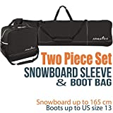 Athletico Two-Piece Snowboard and Boot Bag Combo | Store & Transport...