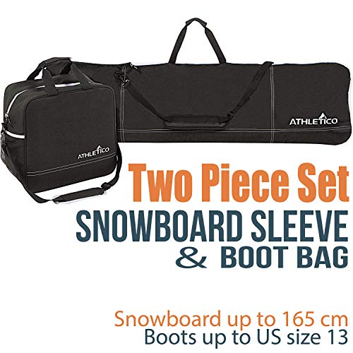 Athletico 2-Piece, Bag Combo, Snowboard, Boot, Transport Snowboard