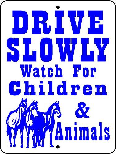 43LenaJon Drive Slowly horloge voor kinderen & dieren Horse Sign 12