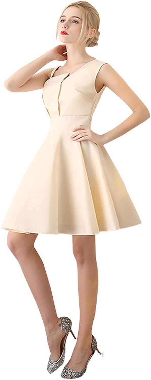 Epinkbridal Vintage Short Evening Dress Prom Gowns A Line Satin Formal Dress