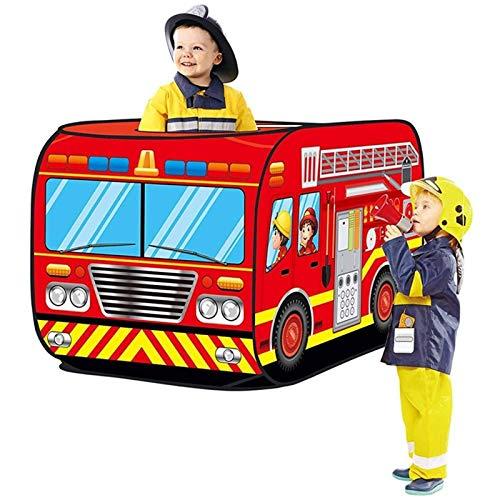None/Brand Carpa Plegable para niños, Tiendaemergente depolicía, camión de Bomberos, Carrito de Helados, autobús Escolar, Carpas para automóviles, Bomberos, policías,Juego