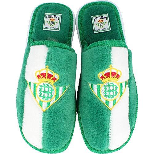Andinas - Zapatillas de estar por casa Oficial Real Betis - Verde-blanco, 31
