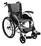 KosmoCare Elegant Breeze Premium Imported Ultra Lightweight Wheelchair With Seat Belt-Grey
