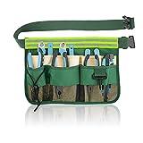 Rayong Werkzeuggürtel, Gürteltasche für Gartenutensilien, Gartengerätegürtel, Gartenwerkzeuggürtel mit 7 Fächern für...
