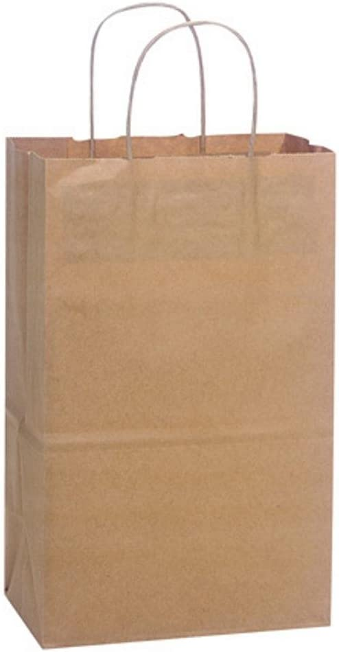 NW Natural Kraft Shopping Bags - Debbie Sized - 8.75x6x14in. - 2