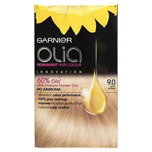 3 x Garnier Olia Permanent Hair Colour 9.0 Light Blonde