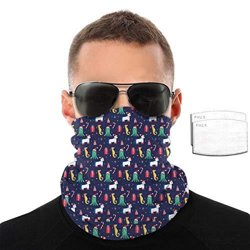Toalla de cara transpirable con diseño de pulpo y unicornios para hombres y mujeres, para deportes al aire libre, resistente al viento, variedad