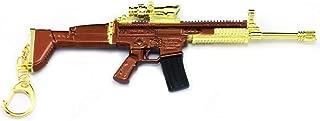 Gold Scar Gun Assault Rifle Model 1/6 Scale Scar Keychain Car Key Buckle Weapon Model Gun Model Toy Action Figure