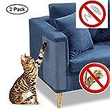 Chat Chien Griffe gardes Transparent 2 pcs en vinyle pour chat avec des tampons auto-adhésifs ,protéger les tissus d'ameublement, les murs, les Matelas, siège auto, porte