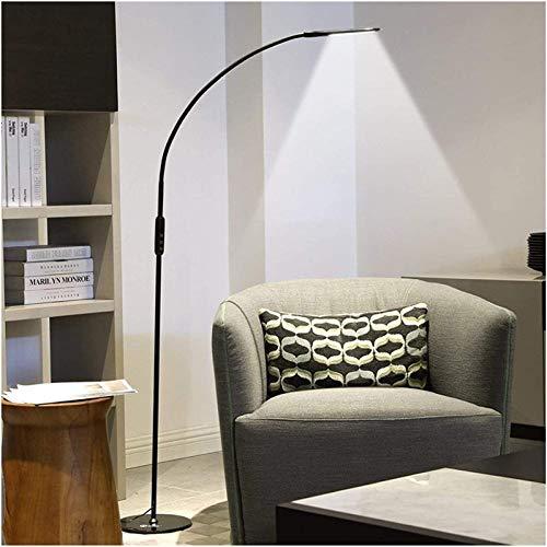 UWY Lámpara de pie, lámpara de pie LED para Estudio, luz de Lectura, lámpara de pie, Brazo Giratorio de 360 Grados, luz de Suelo de Dormitorio, Sala de Estar, Blanco y Negro