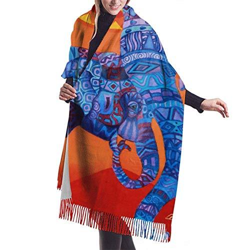 Yuanmeiju Damenmode Langer Schal Cashmere Feel Fringed Scarf,Big Shawl Winter Thick Warm Scarf Wrap Shawl Full...