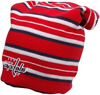 f992ad0b675 Reebok Washington Capitals Faceoff Long Reversible Knit Hat One Size Fits  All