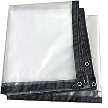 HCYTPL Duidelijke het Membraan van het Geteerd zeildoek Waterdichte Polyethyleen Plastic Beschermende Bedekking voor Tuin,...
