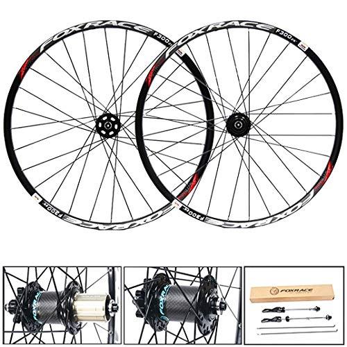 GJZhuan Llantas de Bicicleta, 26/27,5 Pulgadas de Aleación de Aluminio Bicicleta de Montaña Juegos de Ruedas Freno de Disco Fibra de Carbono Hub 24 Agujeros 7/8/9/10/11 Velocidad