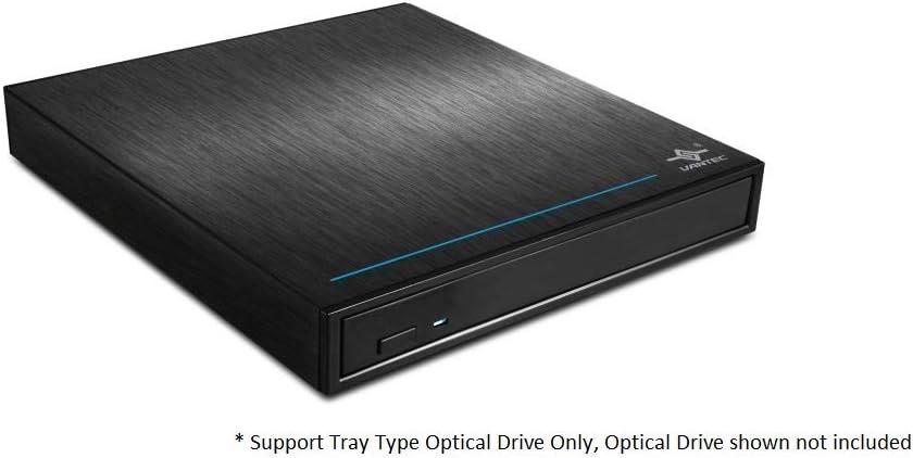 Vantec NST-536S3-BK NexStar DX USB 3.0 External Enclosure for SATA Blu-Ray//CD//DVD Drive All Black