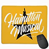 Mouse Mat with Designs Hamilton an American Musical Mousepad Gaming Mouse Pad Natural Rubber 25X30 cm