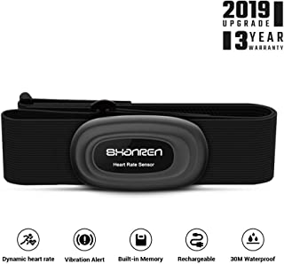 Heart-Rate-Monitor Chest-Strap Beat 20 Rechargeable Fitness Tracker with Vibration Alert, Bluetooth & ANT+ Activity Tracker, IP68 30m Waterproof, 100 Sessions Memory (Beat 20)