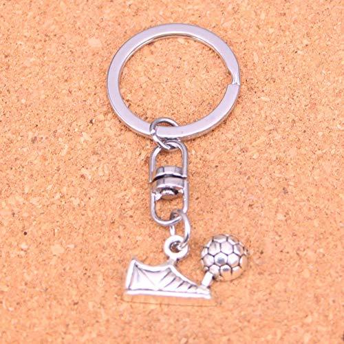 JJCDKL charmanteSilberne Farbe Metall Fußballschuhe Schlüsselanhänger Zubehör & verchromte Schlüsselanhänger