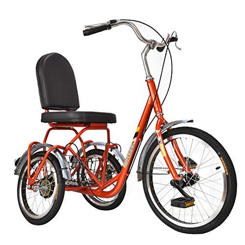 Kleiner erwachsener Dreiradwanderer für ältere Menschen, Cruiser-Fahrrad mit Einkaufskorb 3-Rad-Anfängerfahrräder für Damen und Herren, für Fitness-Shopping-Picknicks und Outdoor-Aktivitäten