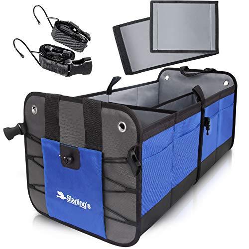 Starling's Car Trunk Organizer - Durable Storage SUV Cargo Organizer Adjustable, Blue