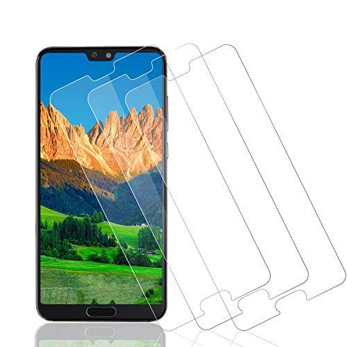 Wiestoung Protecteur D'écran en Verre Trempé pour Huawei P20 Pro, [3 pièces] 3D avec Anti-Rayures, sans Bulles, Dureté 9H Film Protection en Écran Protecteur Vitre pour Huawei P20 Pro