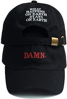 Unisex Spring Summer Damn Hats Embroidered Earth Dad Hat Hip Hop Cap Kendrick Lamar Rapper Snapback