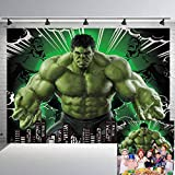 Hulk Super Hero Party Backdrop Comics Monster Giant Photography Background for Children's Birthday Party Photo Booth Studio Props 7x5Ft