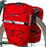 Bushwhacker Moab Red - Bicycle Front/Rear Pannier w/Reflective Trim Cycling Rack Pack Bike Bag Frame Accessories Trunk