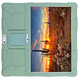 AKNICI 10.1 Inch Silicone Stand Case for Dragon Touch K10 Max10/ZONKO 10.1/BeyondTab 10/Tagital T10K T10N Plus/LLLtrade 10.1/YELLYOUTH 10/ZONKO 10/Lectrus 10/Winsing 10/Wecool 10/Haehne 10, Matcha