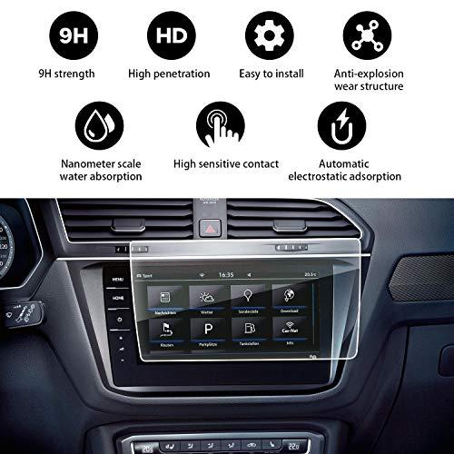 YEE PIN Tiguan 2 Discover Pro Navigation Schutzfolie GPS Displayschutzfolie Navi Folie Gehärtetes Glas Schutz Auto Zubehör 9.2 Zoll