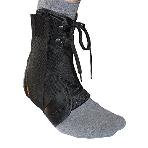 Tirantes de tobillo Premium con cordones, estabilizador de tobillo para protección y esguince, 3 tamaños- S M L (L)