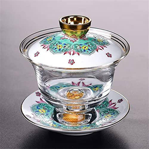 Theekopjes Luxe Royal Special Black Tea Cup Saucer Deksel Sets Handgeschilderde Trace Gold Glass Color Emaille Teekop…