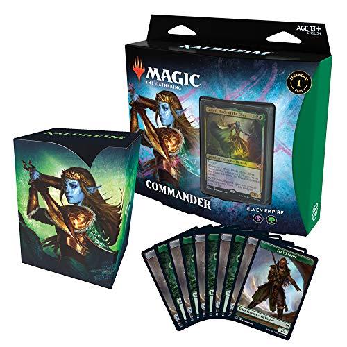 Magic: The Gathering Kaldheim Commander Deck - Tarjeta Elven Empire Empire 100 Lista para Jugar, Color Negro y Verde