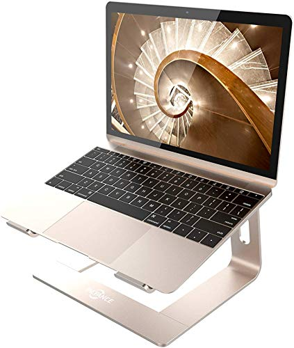 Soporte para computadora portátil de escritorio Soporte ergonómico para computadora portátil de aluminio dorado