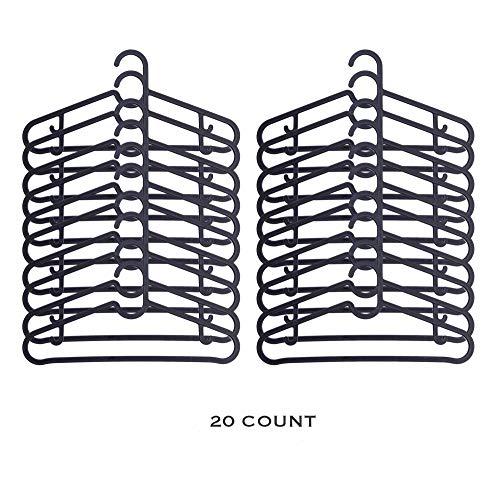 IKEA SPRUTTIG Hanger - Flexibel Stevig Kunststof - Perfect voor Kinderen en Peuters Kleding Kledingkast 7,5 breedte X 15,25 lengte