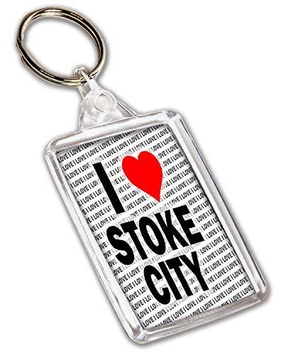 I Love Stoke City Keyring - Gift - Birthday - Christmas - Stocking Filler