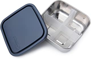 U-Konserve - Divided To-Go, Stainless Steel with Removable Dividers, Multiple Containers in One, Ideal for Lunches, Picnics and Travel, Dishwasher Safe (Medium, Ocean)
